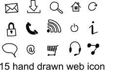 ICÔNE DE 15 WEBS Image libre de droits