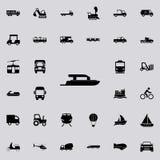 Icône de yacht Transportez l'ensemble universel d'icônes pour le Web et le mobile illustration de vecteur