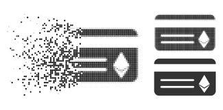Icône dispersée de Dot Halftone Ethereum Banking Card illustration libre de droits
