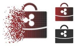Icône dispersée de Dot Halftone Ripple Accounting Case Illustration Libre de Droits