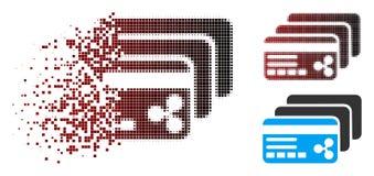 Icône dispersée de Dot Halftone Ripple Banking Cards Illustration Stock