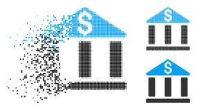 Icône dissoute de Dot Halftone Bank Office Building illustration stock