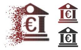 Icône dissoute de Dot Halftone Euro Bank Building illustration de vecteur