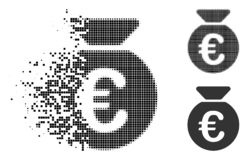 Icône dissoute de Dot Halftone Euro Money Bag illustration libre de droits