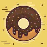 Icône douce de beignet illustration stock