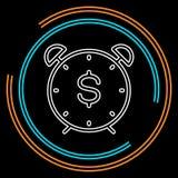 Icône du dollar de temps, heure pour le concept d'argent illustration de vecteur
