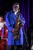 Icône du jazz du monde - ponceuses de Pharoah l'icône Quartetet vivant sur l'étape de Kijow Centre à l'été Jazz Festival à Cracov Photographie stock