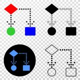 Icône du vecteur ENV de schéma fonctionnel avec la version de découpe illustration stock