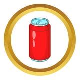 Icône en aluminium de banque de boisson illustration de vecteur