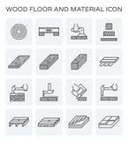 Icône en bois de plancher illustration de vecteur