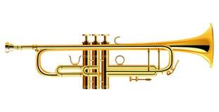 Icône en laiton de trompette Orchestre philharmonique d'isolement illustration stock