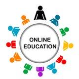 Icône en ligne d'éducation illustration stock
