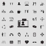 icône en ligne de communication Ensemble détaillé d'icônes de conversation et d'amitié Signe de la meilleure qualité de conceptio Photo libre de droits