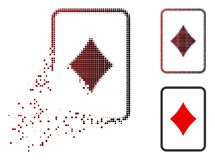 Icône en mouvement de Dot Halftone Diamonds Gambling Card illustration de vecteur
