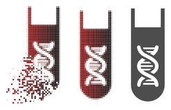 Icône en mouvement de Dot Halftone Genetic Analysis Test-Tube Illustration Libre de Droits