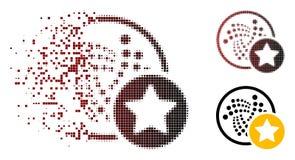 Icône en mouvement de Dot Halftone Iota Favourites Star illustration libre de droits