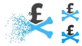 Icône en mouvement de Dot Halftone Mortal Pound Debt illustration stock