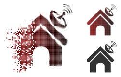 Icône en mouvement de Dot Halftone Space Antenna Building Illustration Libre de Droits