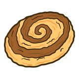 Icône en spirale de biscuit, style tiré par la main illustration libre de droits