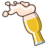 Icône en verre de bière illustration de vecteur