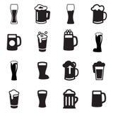Icône en verre de bière de boissons illustration stock