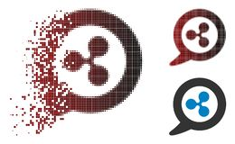 Icône endommagée de Dot Halftone Ripple Message Balloon illustration de vecteur