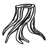 Icône enracinée de tronçon, style simple illustration de vecteur