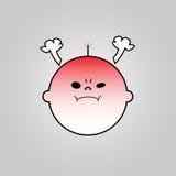 Icône fâchée de bébé illustration de vecteur