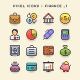 Icône-finances 1 de pixel illustration stock