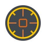 Icône futuriste de portée de but, style plat illustration de vecteur