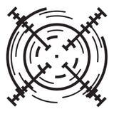 Icône futuriste de réticule, style simple illustration de vecteur
