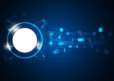 Icône futuriste de technologie de Blue Circle illustration libre de droits
