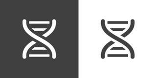 Icône gris-foncé d'hélice d'ADN de vecteur illustration stock