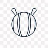 Icône gymnastique de vecteur de boule d'isolement sur le fond transparent, l illustration libre de droits