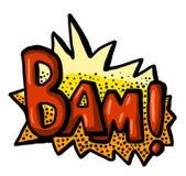 Icône impressionnante de Bam Comic Illustration Stock