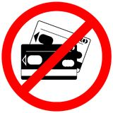 Icône interdite de carte de crédit, aucun signe de carte de crédit illustration stock