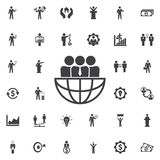 Icône internationale de travail d'équipe illustration libre de droits