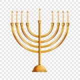 Icône juive de menorah, style de bande dessinée illustration libre de droits
