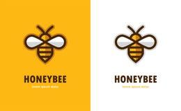 Icône linéaire d'abeille illustration stock