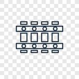 Icône linéaire de vecteur de concept de barrière d'isolement sur le backgro transparent illustration stock