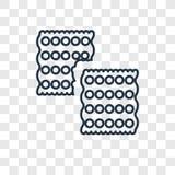Icône linéaire de vecteur de concept de biscuit d'isolement sur le backg transparent illustration libre de droits