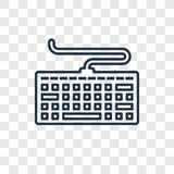 Icône linéaire de vecteur de concept de clavier d'ordinateur d'isolement sur le transpa illustration libre de droits