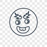 Icône linéaire de vecteur de concept de clin d'oeil d'isolement sur le backgrou transparent illustration libre de droits