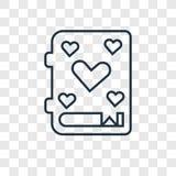 Icône linéaire de vecteur de concept de conte sur le backgrou transparent illustration de vecteur