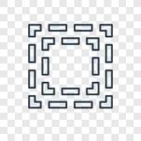 Icône linéaire de vecteur de concept de foyer d'isolement sur le backgro transparent illustration stock