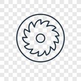 Icône linéaire de vecteur de concept de gâteau aux pommes d'isolement sur le Ba transparent illustration de vecteur
