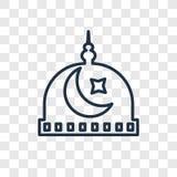 Icône linéaire de vecteur de concept de la Médina d'isolement sur le backgr transparent illustration libre de droits