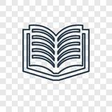 Icône linéaire de vecteur de concept de littérature d'isolement sur le Ba transparent illustration libre de droits