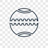 Icône linéaire de vecteur de concept de medicine-ball d'isolement sur transparent illustration de vecteur
