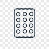 Icône linéaire de vecteur de concept de pain azyme d'isolement sur le backgro transparent illustration de vecteur